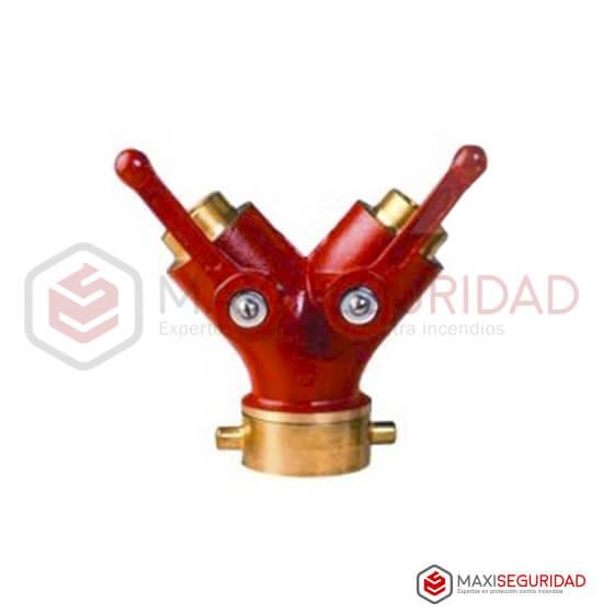 Derivación 63.5 mm H a 2 salidas 44.5 mm M c/llave