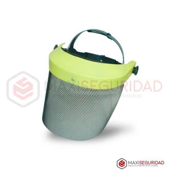 Protector facial forestal, malla metálico 20x34 cm