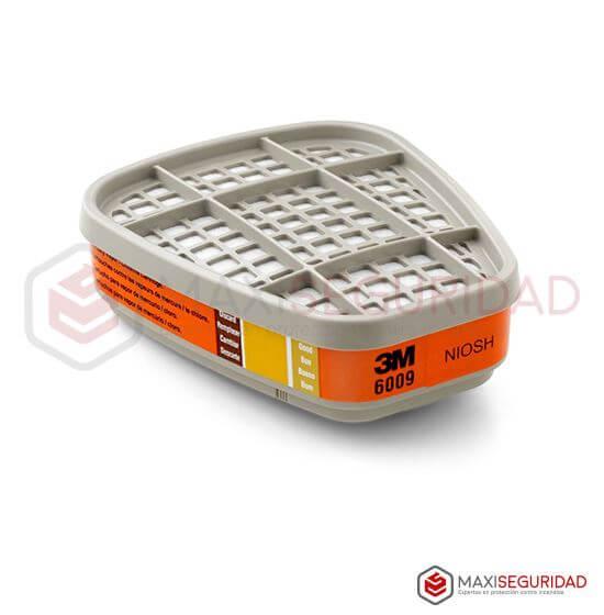 Cartucho p/vapores de cloro y mercurio c/indicador Mod. 6009