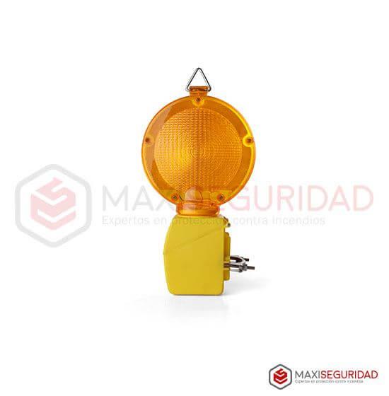 Faro bidireccional amarillo para cono Intermitente