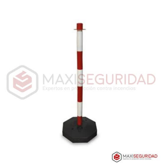 Poste demarcatorio sostén de cadena Rojo/Blanco