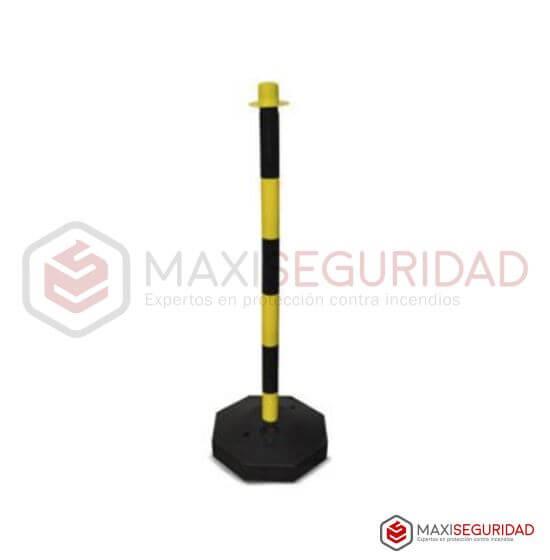 Poste demarcatorio sostén de cadena Amarillo/Negro